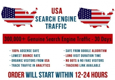 Send real 5k-300k USA based keyword targeted Search Engine traffic