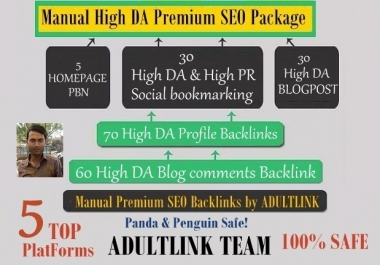 Create Manually 195 High DA backlinks from 5 top platforms