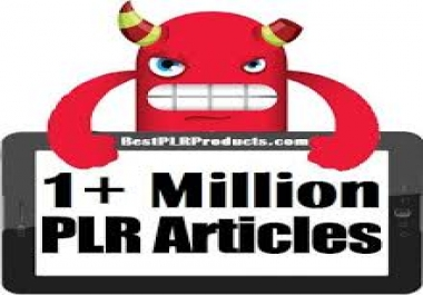 Get Over 1Million+ PLR Articles, Ebooks, Book Covers, Video Training, Bonuses in Over 100 Niches