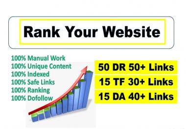 I will create 10 high tf, da, DR permanent dofollow backlinks for SEO