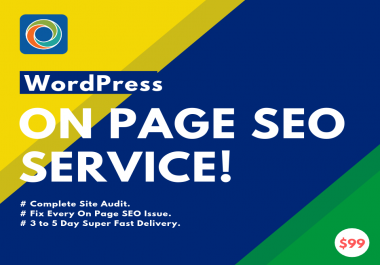 I will do on page SEO for search engine for your Wordpress