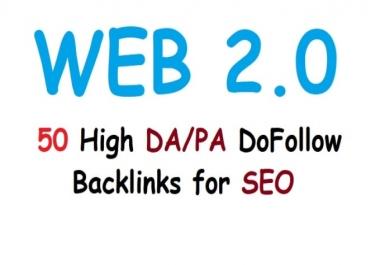 create Web 2.0 Profile, Quality Baclinks, 50+ sites, PR9 PR8 PR7 PR6 PR5