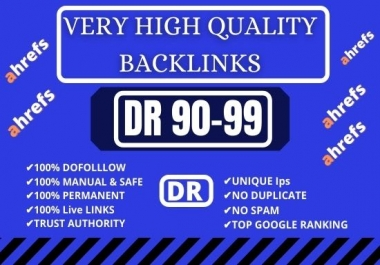 We will do high DR Dofollow Backlinks service, increase domain rating ahrefs