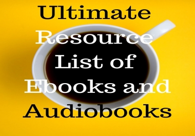 Ultimate Resource List of Ebooks and Audiobooks