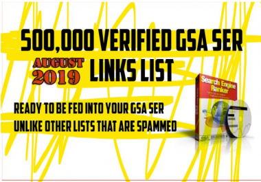 500k+ GSA SER Auto-Approve Fresh Link Lists 2019 SEO