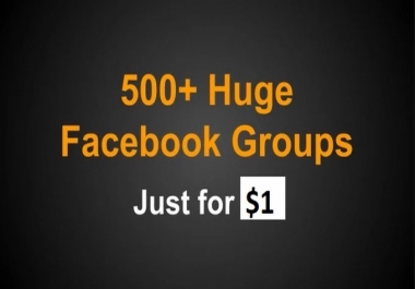 500+ Niche Targeting Facebook Groups List for real traffic