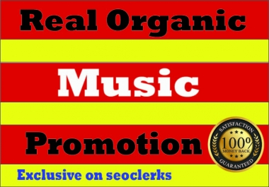 Organic Music Promotion to Your Track for premium streams