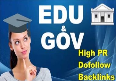 Manual 30 High DA + EDU & GOV Profile Backlinks to get google ranking improves