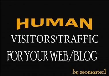30k Human visitors/traffic to your Web/Blog Adsense safe and get Good Alexa rank