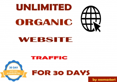 UNLIMITED organic & social Website TRAFFIC for 1 month