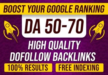 Manually create high DA contextual seo dofollow backlinks