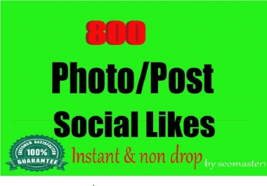 Instant 800 Social likes High Quality Express Delivery