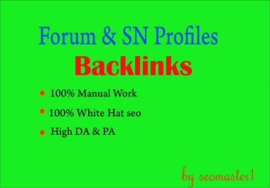 PR10 1500 Forum &social network Backlinks.Help To Website Traffic Google Ranking