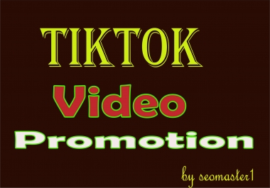Do Organic tiktok video or account prormotion .Super fast service