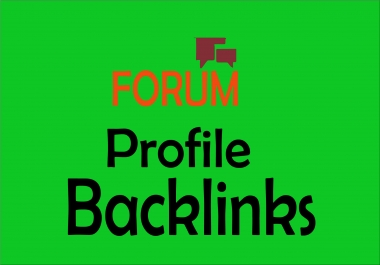 High Quality PR 500 forum profile backlinks with very high indexer.. Improve ranking