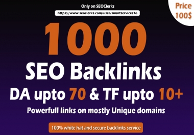 Build Manually 1000 high TF, CF Dofollow Blog comments backlinks on high DA unique blogs