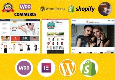 Build Premium Professional Responsive SEO Optimized WordPress Woocommerce or Shopify Store