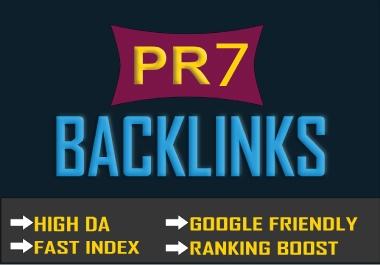 10+ PR-7 High Domain Authority (30+) Do-Follow Backlinks (Best for Google Ranking)