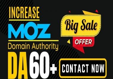 Increase Domain Authority MOZ DA 61+ with High Authority Backlinks