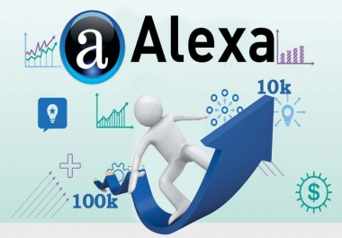 I will improve USA Alexa rank under 99K using SEO and Backlinks