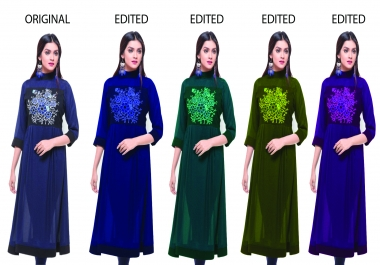 I will change all kind of dress color