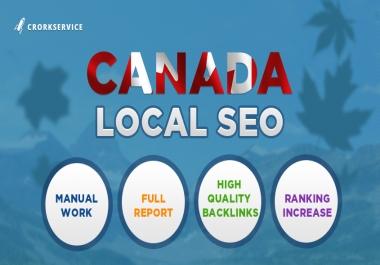Canada Local SEO high quality backlinks