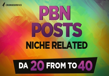 Niche Related PBN Guest Posts - Domain Authority up to 40
