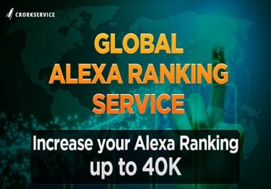 Alexa Global Ranking Service - Increase Alexa up to 40K