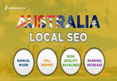 Australia Local SEO - full manual work