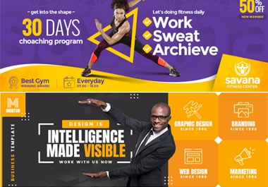 i will design 3 stunning banner, poster or flyer for website or social media