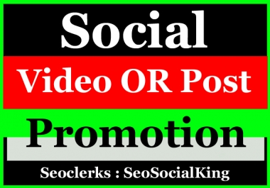 Instant High Quality Social Post Pictures and video Promotion and Marketing