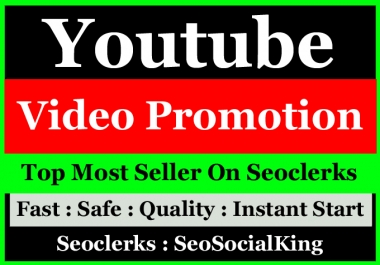 Organic High Quality YouTube Video Promotion Seo marketing