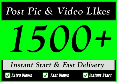 Instant 1500 Plus High Quality Social Post Pictures video Promotion and Marketing