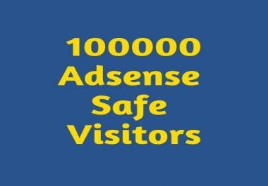 100000 Adsense Safe visitors to your website