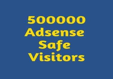 500 000 Adsense Safe visitors to your website