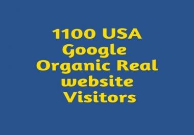 1100 USA Google Organic Real website Visitors