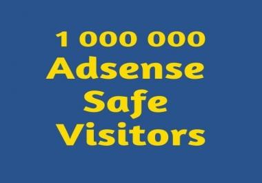 1,000,000 Adsense Safe visitors to your website