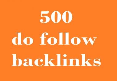 500 do follow backlink from 50+ blogs