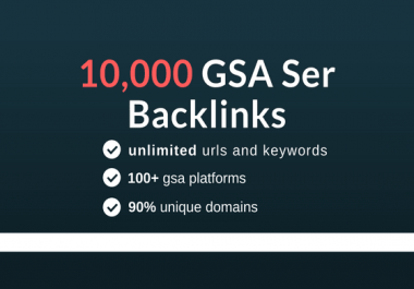 GSA Blast GSA SER To Create 10,000 Backlinks And CRUSH Your Competition