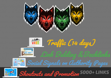 Powerful 4 Levels SEO - 5000 Links - Traffic, Backlinks, Social Signals, Shoutouts and Promotion