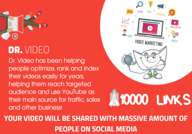 Youtube SEO - 10,000 MIXED TYPE OF LINKS FOR YOUR VIDEO - Embeds, Social Signals, Backlinks