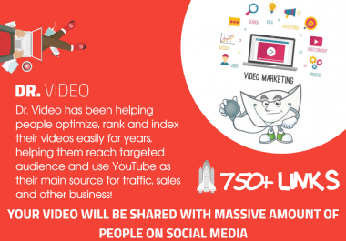 Youtube SEO - Get 750 Organically Built Links - Video Embeds, Social Signals and Backlinks