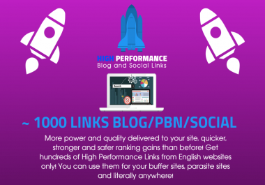 High Performance Blog and Social SEO Links Mix - Decent metrics for small SERP and Rank Improvement