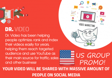 Youtube SEO - 1000+ Video Embeds - Includes US Groups Promo, Social Signals, Backlinks