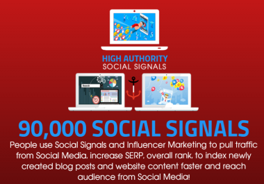 GET 90.000 SOCIAL SIGNALS ON HIGH AUTHORITY PAGES TO BOOST YOUR RANK, TRAFFIC AND SEO SCORE