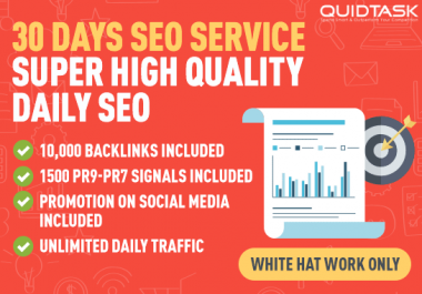 30 DAYS SEO - TRAFFIC with BACKLINKS AND SIGNALS