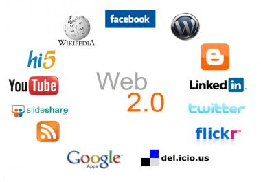50+ high quality dofollow WEB 2.0 backlinks