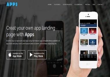 Create WordPress Landing Page Or Responsive Landing Page Mobile friendly