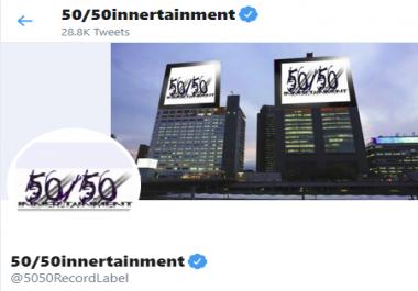 Major Record Label Sponsored Tweet