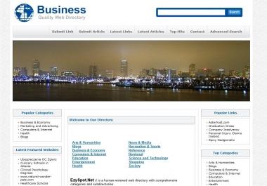 Add you website to EzySpot.Net directory